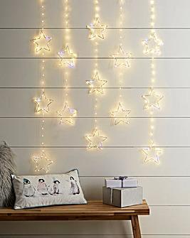 Star Pinwire Warm White Twinkling Window Lights