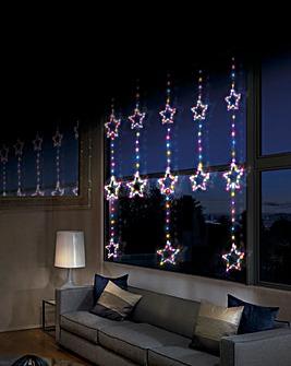Star Pinwire Rainbow Twinkling Window Lights
