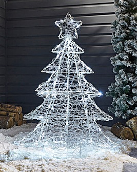 Twinkling Outdoor Christmas Tree