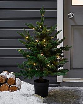 Potted Real-Look Pre-Lit Yukon Tree