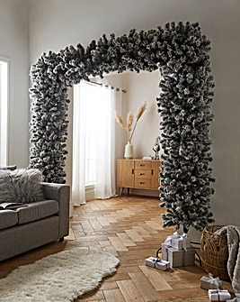 8ft Classic Artificial Flocked Christmas Tree Arch