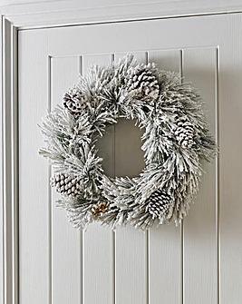 Colorado Spruce Flocked 50cm Wreath