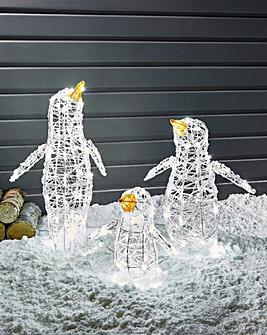 Set of 3 Acrylic Penguins