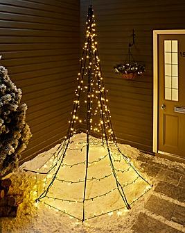 Starry Nights 3 Metre Outdoor Christmas Tree
