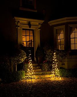 Starry Nights Set of 2 Doorstep Trees