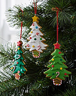 Claydough Christmas Trees Set of 6