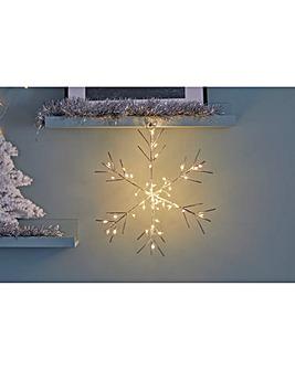 Sparkle Snowflake Light-up Indoor Decoration