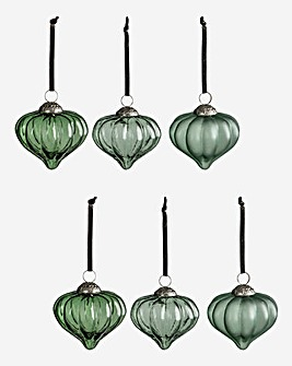 Percy Fluted Set of 6 Baubles
