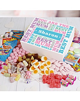 Personalised Best Mum Sweet Box