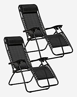 Black Zero Gravity Chair with Holders
