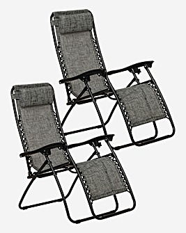 Grey Zero Gravity Chair with Holders