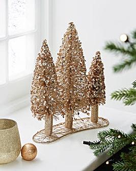 Gold Glitter Trees Decoration