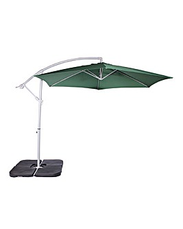 Green 3m Cantilever Hanging Parasol