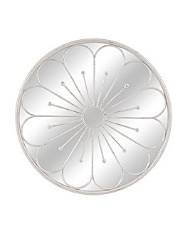 80cm White Flower Mirror