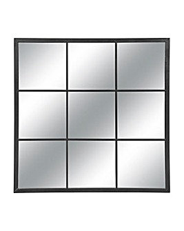 90cm Black Square Panel Mirror