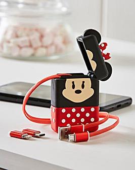Minnie Mouse Flip Retractable Cable