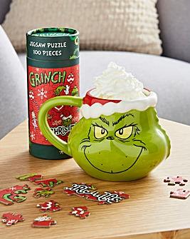 The Grinch Mug & Puzzle