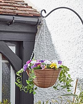 Smart Garden Artificial Pansy Hanging Basket