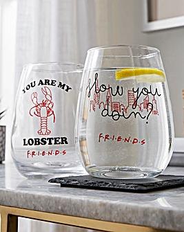 Friends Set of 2 Lobster Glasses