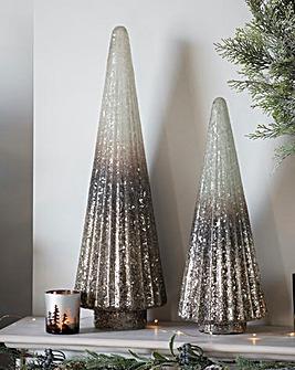 Ombre Silver Glitter Tree