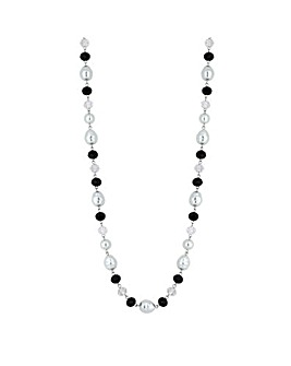 Jon Richard Bead And Pearl Long Necklace
