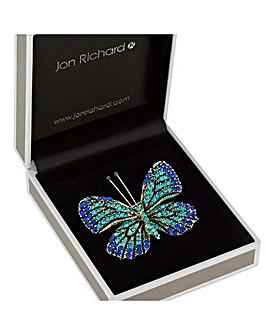 Jon Richard Crystal Butterfly Brooch