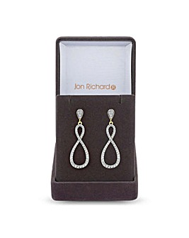Jon Richard Infinity Drop Earring