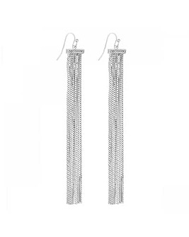 Lipsy Pave Bar Tassel Drop Earring