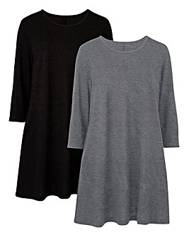 2 Pack Swing Tunic Plain