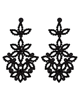 Mood Diamante Flower Statement Earring