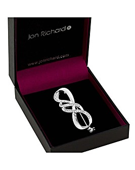 Jon Richard Infinity Swirl Brooch