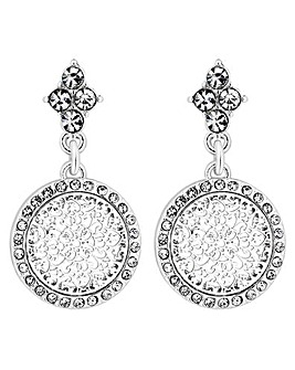 Jon Richard Disc Drop Earring
