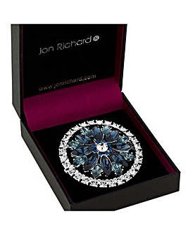 Jon Richard Crystal Floral Disc Brooch