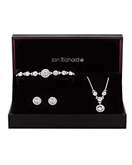 Jon Richard Halo Jewellery Set