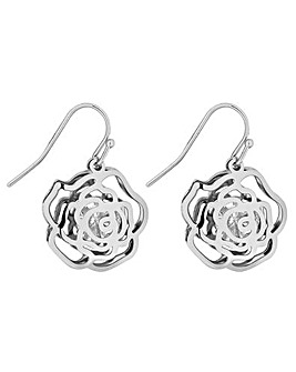 Jon Richard Open Rose Drop Earring