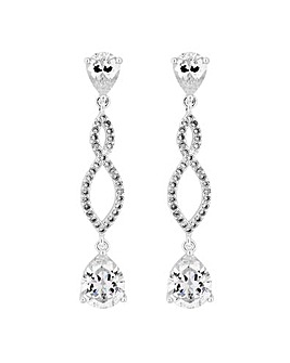 Jon Richard Twist Drop Earring