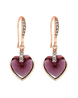 Jon Richard Swarovski Heart Drop Earring