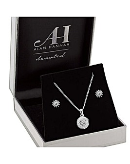 Alan Hannah Cubic Zirconia Jewellery Set