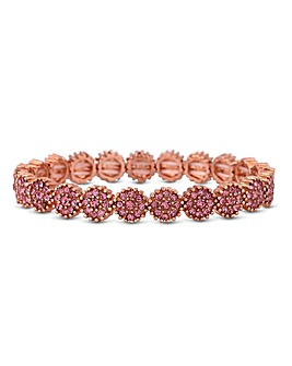 Jon Richard Floral Stretch Bracelet