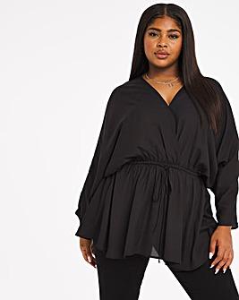 Black Kimono Sleeve Blouse