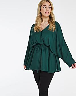 Emerald Green Kimono Sleeve Blouse