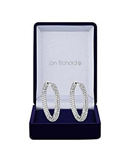 Jon Richard Pave Hoop Earring