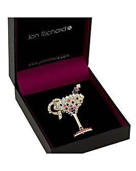 Jon Richard Cocktail Glass Brooch