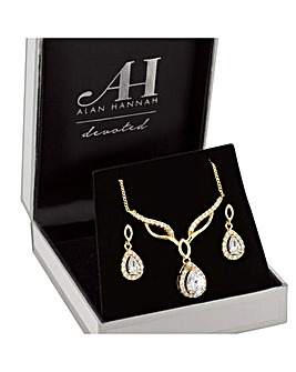 Alan Hannah Peardrop Jewellery Set