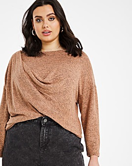 Knit Look Draped Top