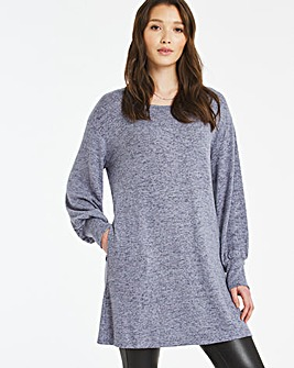 Side Pocket Tunic with Volume Sleeve