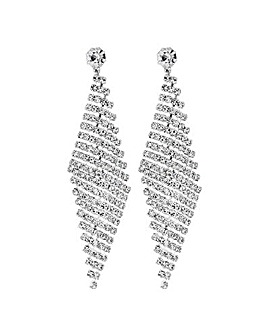Jon Richard Diamante Statement Earring
