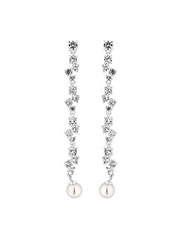 Jon Richard Cluster Pearl Drop Earring
