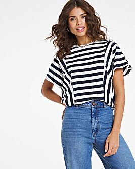 Stripe Cutout Top