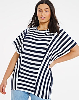 Stripe Cutout Top